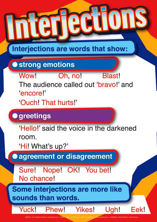 English Grammar Interjections - Radix Tree Online Tutoring ...