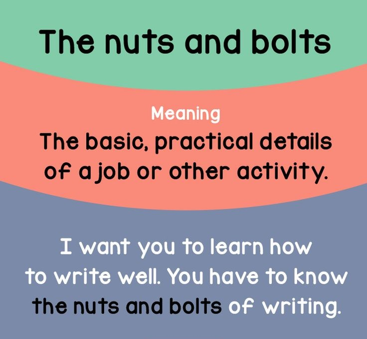 nut and bols of english writting