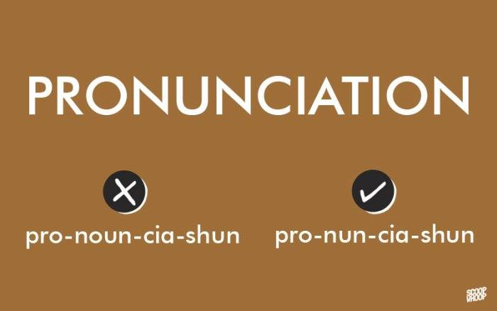 how to pronounce words