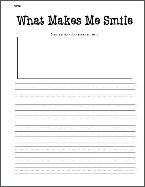what-makes-me-smile-writing-prompt